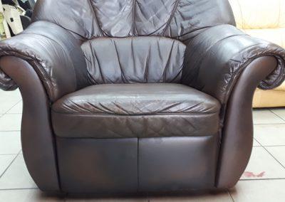 Czyszczenie fotela skórzanego