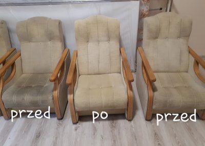 Pranie foteli - PRZED i PO